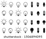 lightbulbs icon set. bulb...
