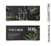 gift voucher for black friday... | Shutterstock .eps vector #1506897788