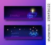 happy diwali web banners... | Shutterstock .eps vector #1506936122