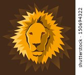 Lion's head. Vector illustration. - stock vector