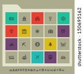 modern flat design tourism icons