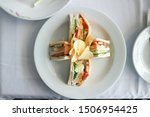 Stock photo club sandwich chicken sandwich with chips fastfood 1506954425