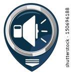 speaker pointer  volume icon  | Shutterstock .eps vector #150696188