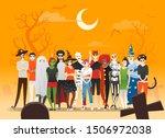 happy halloween   group of...   Shutterstock .eps vector #1506972038