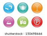 colorful icons for the web with ... | Shutterstock . vector #150698666