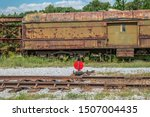 On Exempt Train Tracks Sits An...