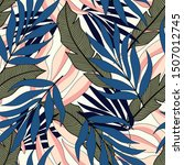 tropical seamless pattern with... | Shutterstock .eps vector #1507012745