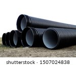 corrugated double walled pipes. ...   Shutterstock . vector #1507024838