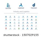 industry and logistics creative ... | Shutterstock .eps vector #1507029155