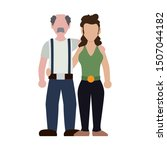 young couple avatars characters ... | Shutterstock .eps vector #1507044182