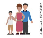 parents couple with son avatar... | Shutterstock .eps vector #1507045862