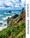 The Rugged Oregon Coastline In...