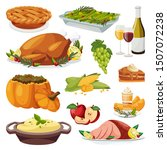 thanksgiving holiday menu... | Shutterstock .eps vector #1507072238