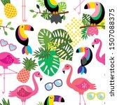 seamless  tileable tropical... | Shutterstock .eps vector #1507088375