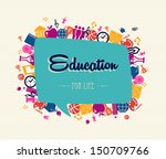 colorful back to school global... | Shutterstock . vector #150709766