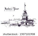 drawing sketch illustration of... | Shutterstock .eps vector #1507101908