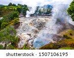 Hot Thermal Springs In Furnas...