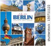 berlin collage with the city's... | Shutterstock . vector #150711122