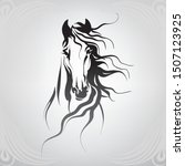 vector silhouette of a horse's... | Shutterstock .eps vector #1507123925