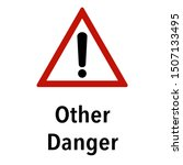 other danger information and... | Shutterstock .eps vector #1507133495