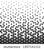 halftone triangle abstract... | Shutterstock .eps vector #1507141112