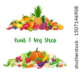 vegetables and fruit banner ... | Shutterstock .eps vector #1507146908