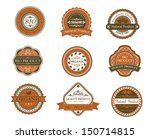 bio and organic labels set in... | Shutterstock .eps vector #150714815