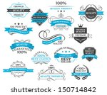 retro labels  headers and... | Shutterstock .eps vector #150714842