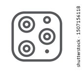 triple camera icon isolated on...