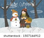 Winter. Vector Illustration Of...