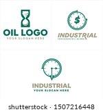 industrial logo design with... | Shutterstock .eps vector #1507216448