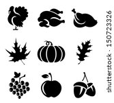 set of thanksgivin icons... | Shutterstock .eps vector #150723326
