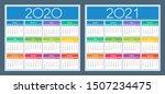 calendar 2020  2021. colorful... | Shutterstock .eps vector #1507234475