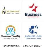 business design logo with... | Shutterstock .eps vector #1507241582