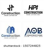 construction design logo with... | Shutterstock .eps vector #1507244825