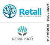 retail logo design with icon... | Shutterstock .eps vector #1507248005