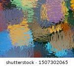 modern art. artistic brush. oil ...   Shutterstock . vector #1507302065