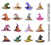 spooky evil witch old hat... | Shutterstock .eps vector #1507305188