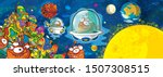 cartoon scene with some funny...   Shutterstock . vector #1507308515