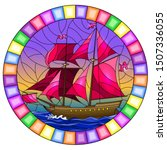 illustration in stained glass... | Shutterstock .eps vector #1507336055