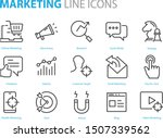 set of marketing icons  seo ... | Shutterstock .eps vector #1507339562