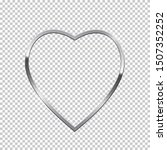 silver heart shape border... | Shutterstock .eps vector #1507352252