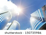 Modern Business Buildings With...