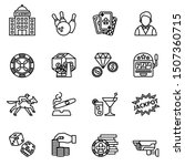 casino and gambling icons set... | Shutterstock .eps vector #1507360715