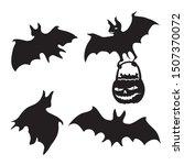 set of bat silhouette icons on... | Shutterstock .eps vector #1507370072