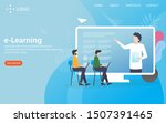 e learning  landing page vector ... | Shutterstock .eps vector #1507391465