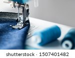 Sewing Machine With Denim And...