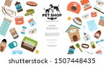 flat dog and cat products... | Shutterstock .eps vector #1507448435