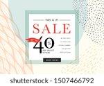 sale sign design in... | Shutterstock .eps vector #1507466792