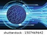 blue world cyber circuit future ... | Shutterstock .eps vector #1507469642